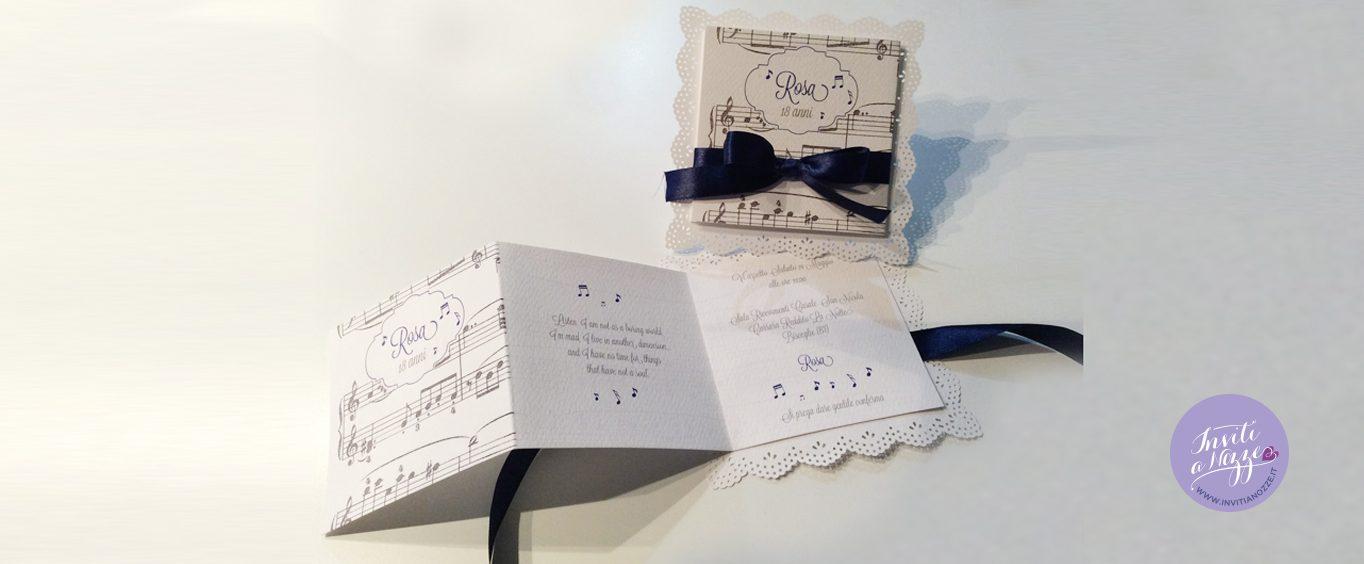 Top invito compleanno tema musica – Inviti a nozze WX58