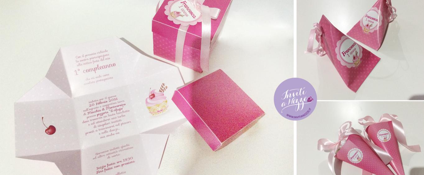 invito compleanno scatolina