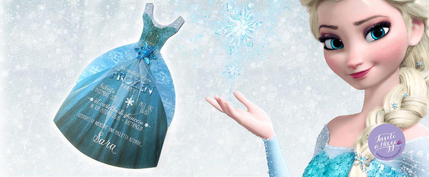 Invito compleanno Frozen Elsa