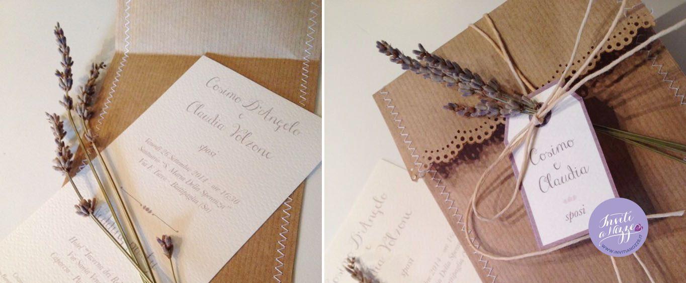Partecipazioni Matrimonio Rustico : Partecipazione matrimonio sacchetto del pane inviti a nozze