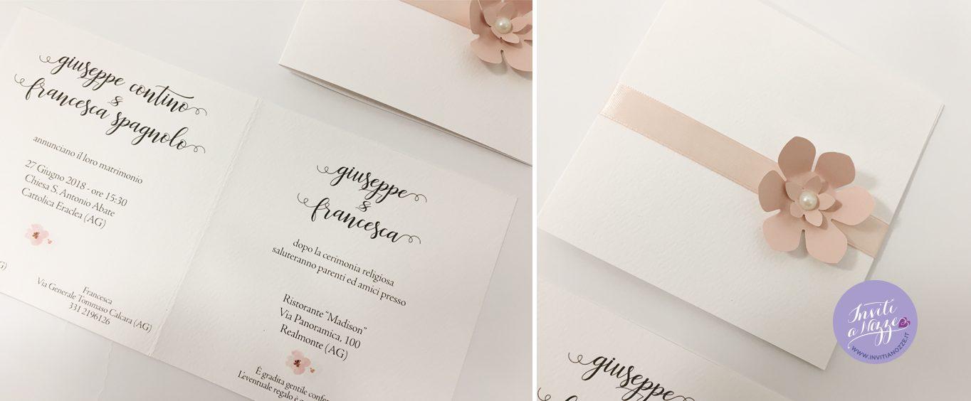 Estremamente partecipazione rosa cipria – Inviti a nozze WM22