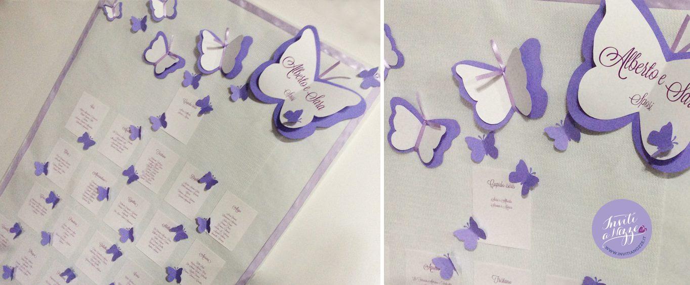 Molto tableau mariage farfalle grandi – Inviti a nozze ZI38