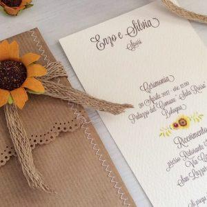 Partecipazioni Matrimonio Con Girasoli : Partecipazioni matrimonio girasole cata imballaggio u2013 inviti a nozze
