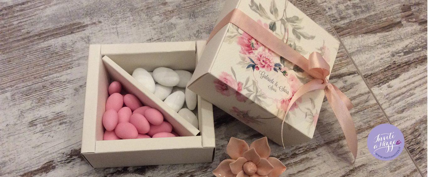 Box degustazione confetti vintage