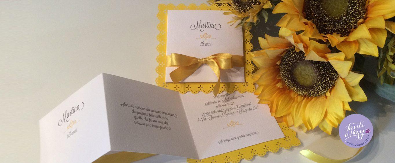 invito 18 anni girasole giallo