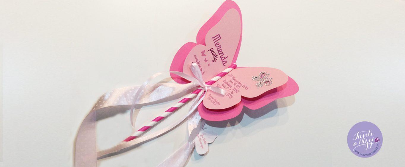 invito compleanno farfalla