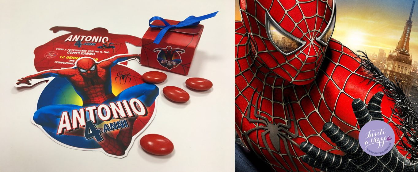 invito compleanno spiderman
