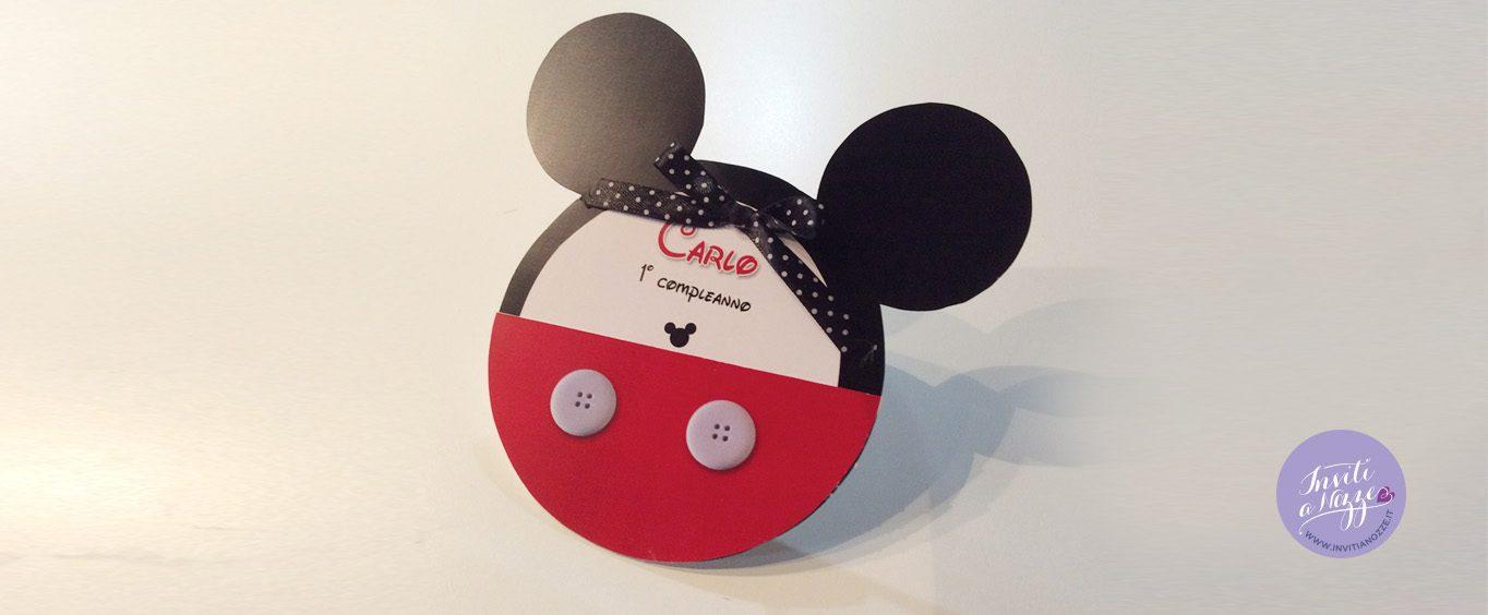 invito compleanno orecchie topolino