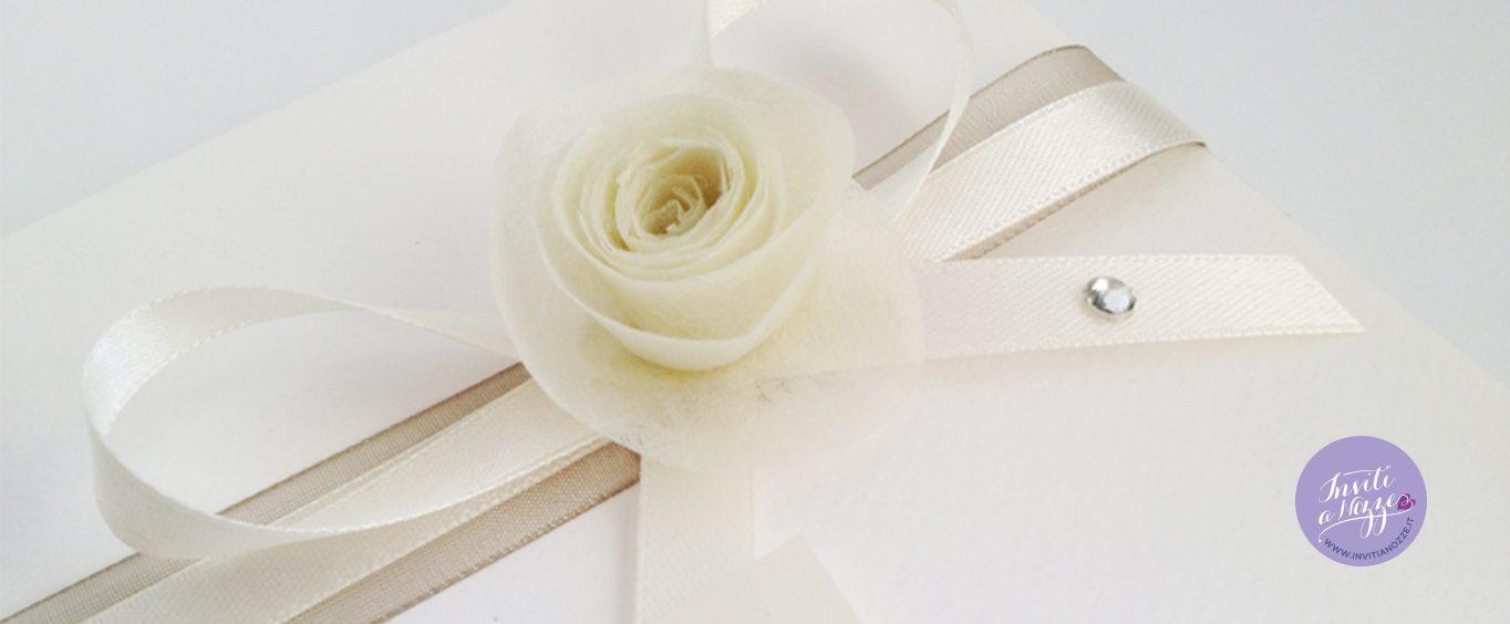 partecipazione di matrimonio avorio