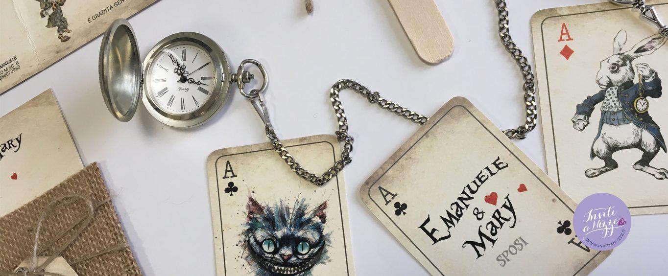 Matrimonio Alice In Wonderland : Partecipazione di matrimonio alice in the wonderland