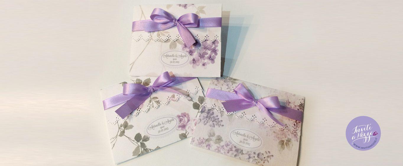partecipazione matrimonio fiori lilla