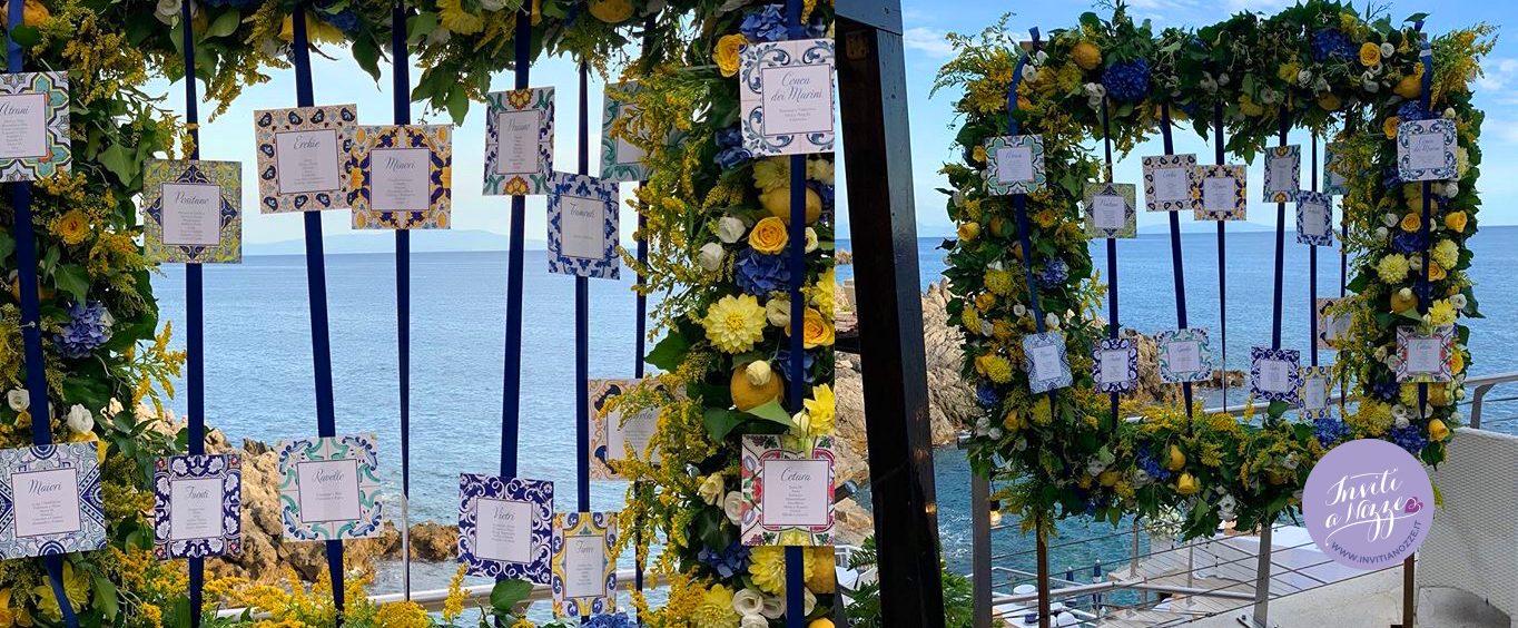 Coordinato Amalfi coast blu notte