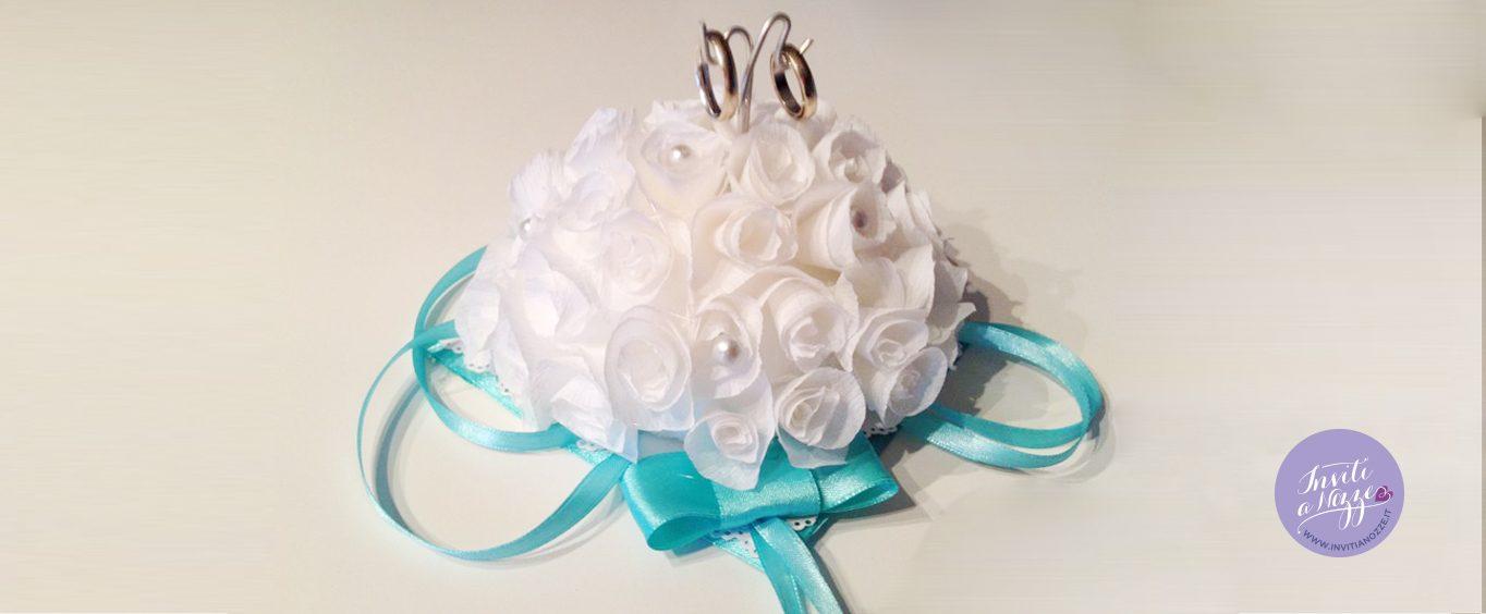portafedi roselline bianche