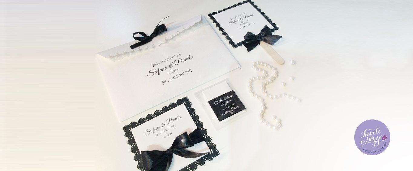 wedding bag black & white